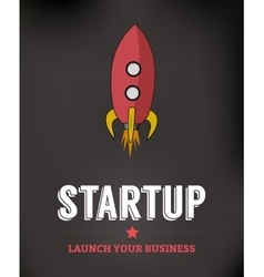 Startup Business Background vector image vector image