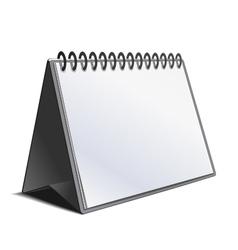blank calendar isolated on white vector image