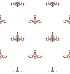 Chandelier icon in cartoon style isolated on white vector