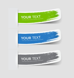 Collection label paper brush stroke vector image vector image