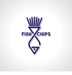 Fish and Chips Icon vector image