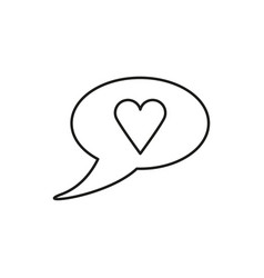 love chat bubble icon vector image