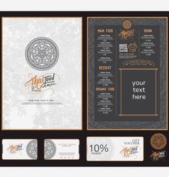 thai food restaurant menu template vector image