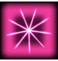 Abstract glow rays on square background vector image vector image