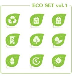 ecology icon set Vol 1 vector image vector image