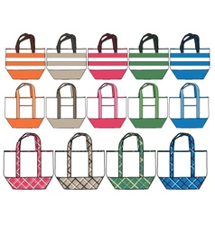 fashion handbag design vector image