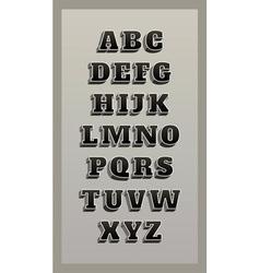 retro font vintage alphabet vector image vector image