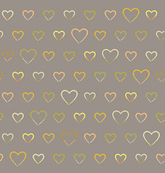 seamless pattern with doodle hearts vector image vector image