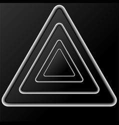 abstract background of black triangles with shadow vector image