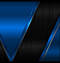 Abstract elegant geometric triangle blue metallic vector