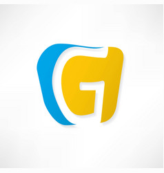 abstract icon based on the letter g vector image