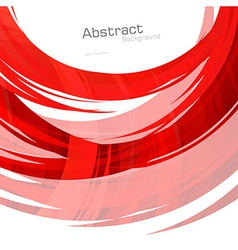 Abstract red lines background vector image