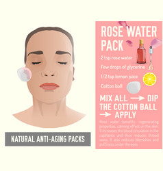 anti-aging face pack 2-03 vector image