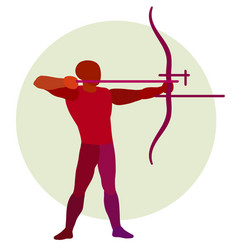 archer silhouette of bowman archery logo vector image