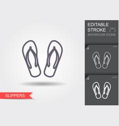 bathtub line icon with editable stroke with vector image