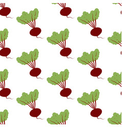 Beet vegetable pattern vector