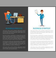Business process strategy planning businessman vector