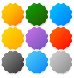Button badge backgrounds with modern smooth vector