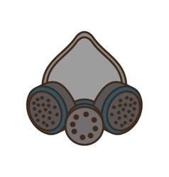 cartoon mask and respirator protective equipment vector image