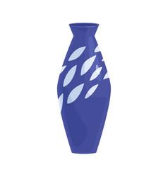 Ceramic vase porcelain vessel with enamel modern vector