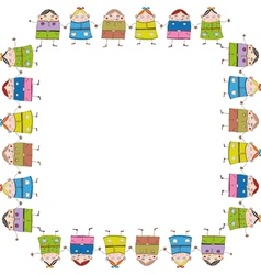 Children frame vector