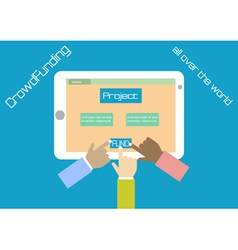 Crowdfunding concept in flat style Funding project vector