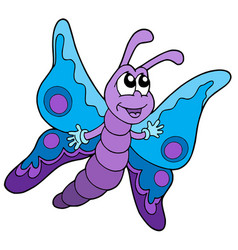 Cute blue and purple butterfly vector