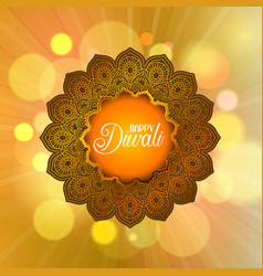 decorative diwali background vector image