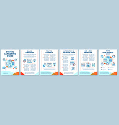 Digital marketing guide brochure template layout vector