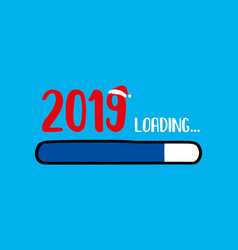 Doodle blue download bar2019 loading text vector