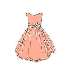 Dress for little girls vector