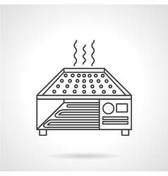 Dryer oven flat line icon vector