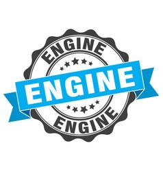 engine stamp sign seal vector image