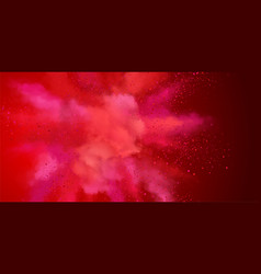 Explosion of red powder vector