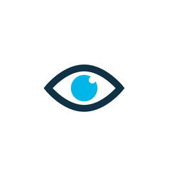 eye icon colored symbol premium quality isolated vector image