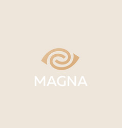eye swirl spiral logotype lined camera vector image