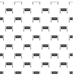 Finish line gates pattern vector