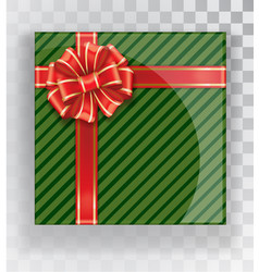 gift box green christmas gift boxes isolated on a vector image