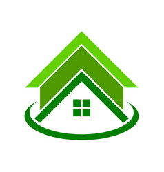 Global green housing logo symbol vector