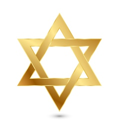 Golden Magen David star of David vector