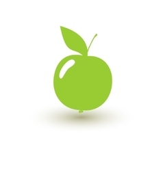 Green apple on a white background vector image