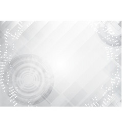 Grey technology abstract background vector