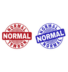 Grunge normal textured round stamps vector