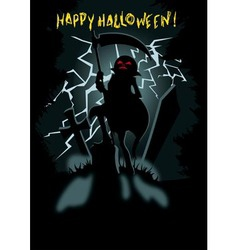 Happy Halloween greeting card background vector