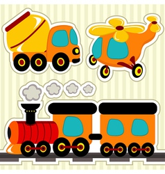 Icon set transport vector