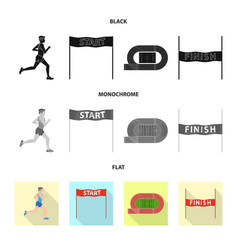 isolated object of sport and winner symbol set of vector image