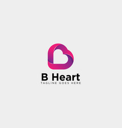 Letter b dating love logo template icon element vector