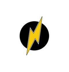 letter n thunder shape simple logo vector image