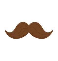 Moustache icon cartoon vector