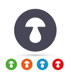 Mushroom sign icon boletus mushroom symbol vector